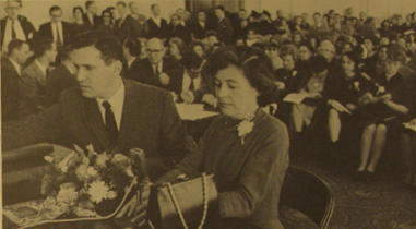 Dagmar Wilson at the House Un-American Activities Committee hearings against Women Strike for Peace (WSP) in December 1962